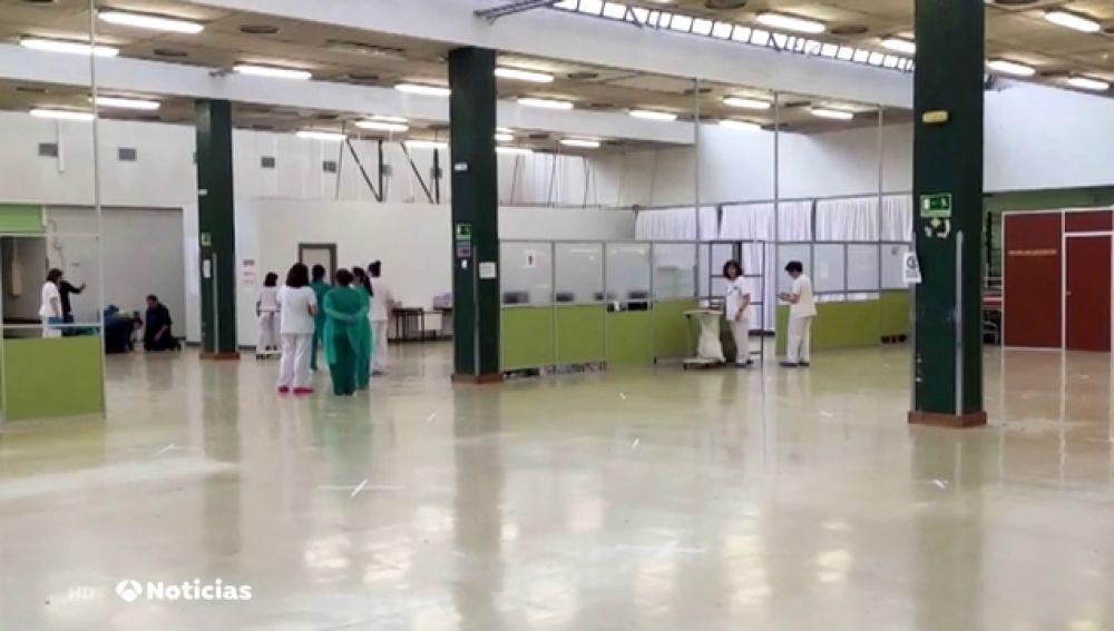 El Hospital de La Paz habilita un gimnasio para atender los casos de sospechosos de coronavirus
