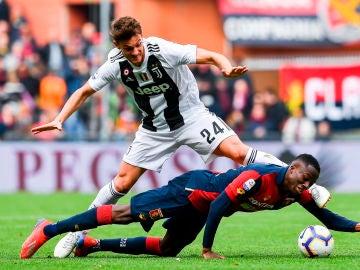 Daniele Rugani, futbolista de la Juventus, en un partido