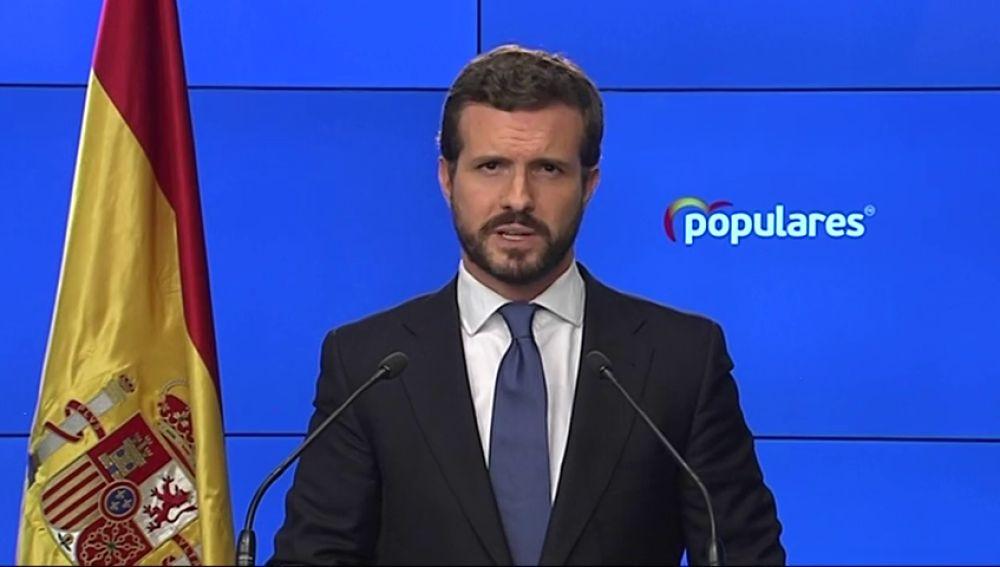 Pablo Casado apoya el estado de alarma y las medidas urgentes que sean necesarias para contener el coronavirus