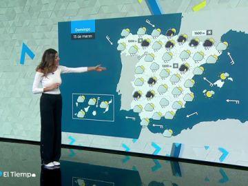 La semana se despide con un cambio brusco de tiempo, con lluvia y nieve en casi toda España