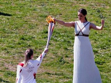 Acto de entrega de la antorcha olímpica