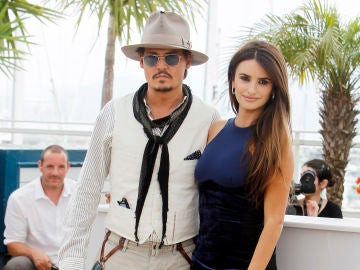 Johnny Depp y Penélope Cruz