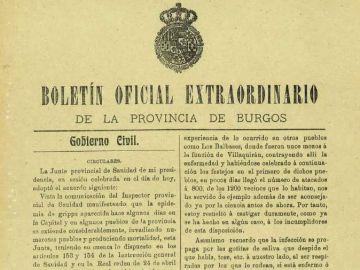 Medidas de Burgos contra la 'gripe española'