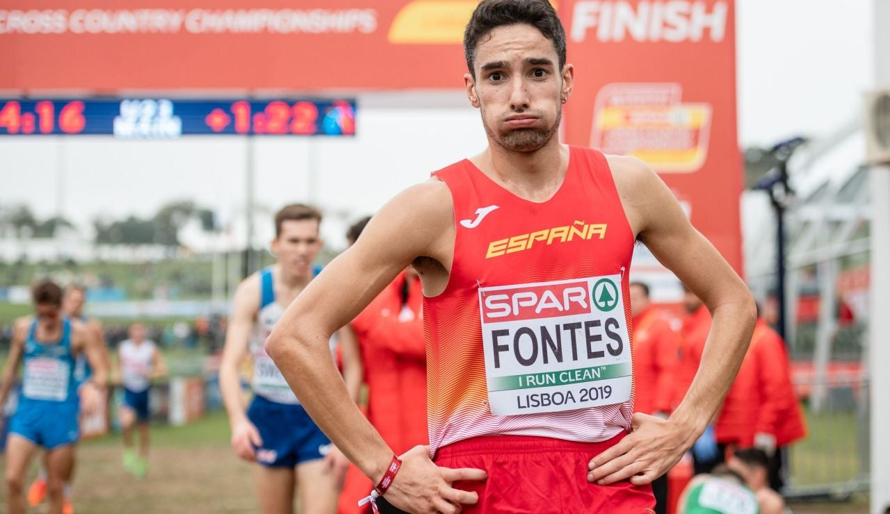 El atleta Ignacio Fontes, tras una carrera