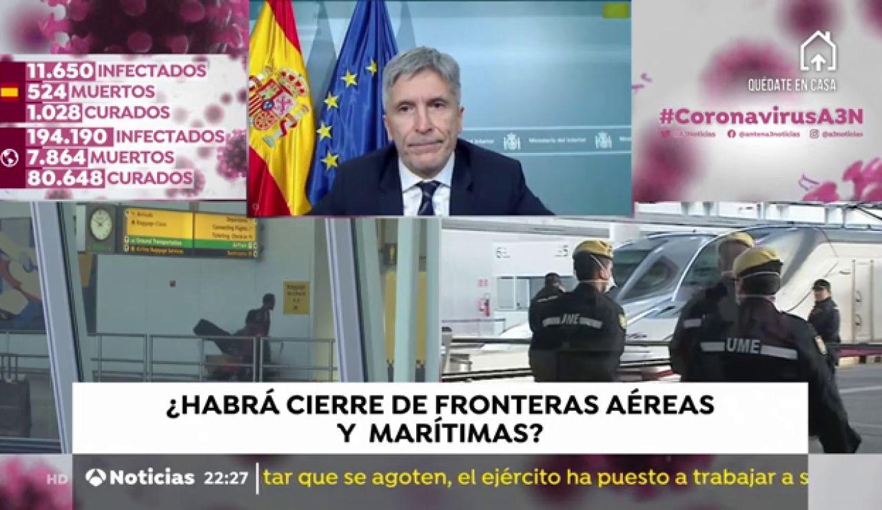 """Fernando Grande-Marlaska, ministro del Interior: """"No debe haber ningún tránsito de personas que no sea necesario y preciso"""""""