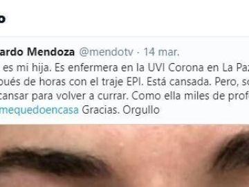 Tuit de @mendotv