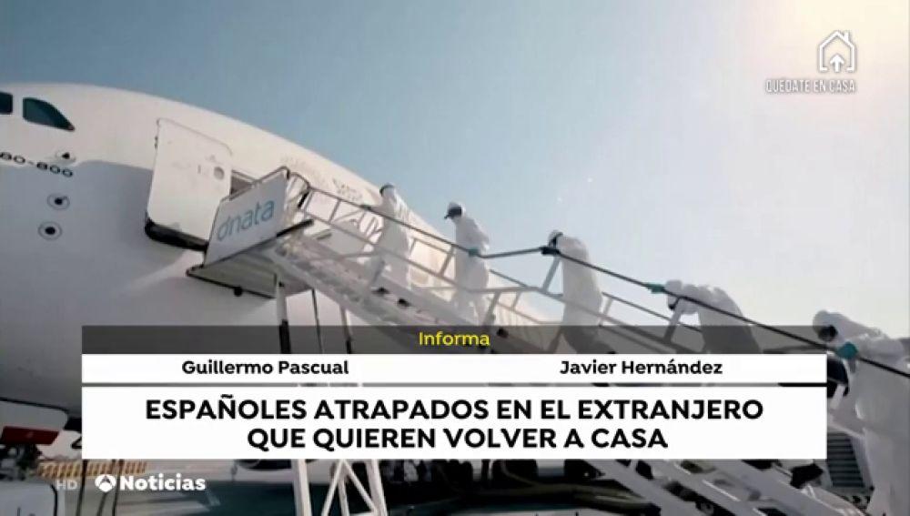 Españoles atrapados en el extranjuero
