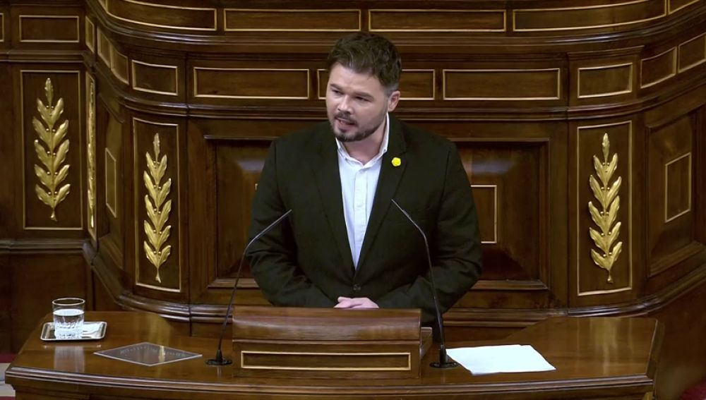 """Gabriel Rufián en el pleno del Congreso sobre el coronavirus: """"Es perentorio aislar casa a casa"""""""