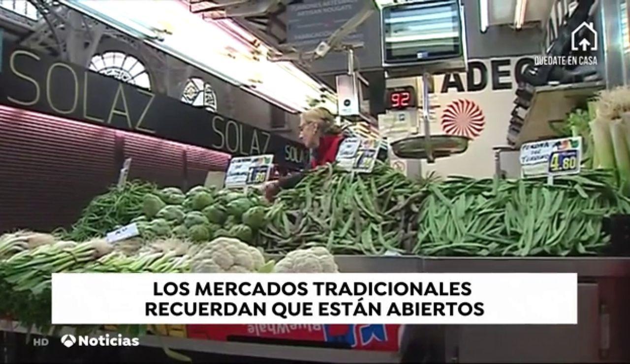 Los mercados tradicionales recuerdan que, al igual que los supermercados, también siguen abiertos durante el estado de alarma