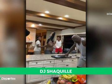 Shaquille O'Neal se monta su propia discoteca en casa con sus hijos durante el confinamiento por coronavirus