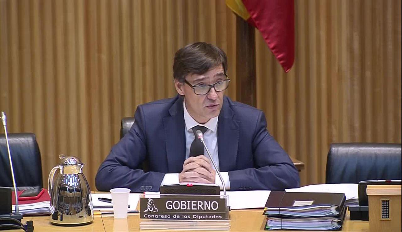Salvador Illa, ministro de Sanidad, en el Congreso