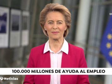 La presidenta de la Comisión Europea, Úrsula von der Leyen