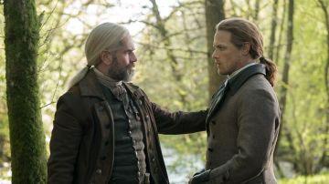 Duncan Lacroix, Murtagh, y Sam Heughan, Jamie Fraser, en 'Outlander