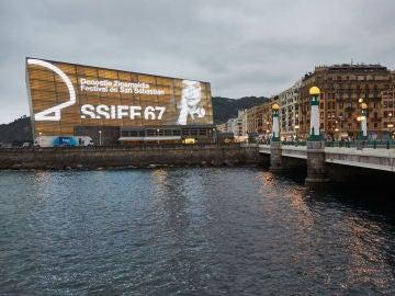 Panorámica del Kursaal de San Sebastián durante la edición número 67 del Festival Internacional de Cine