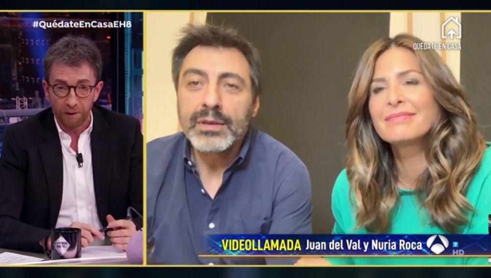 Revive la entrevista al completo a Nuria Roca y Juan del Val en 'El Hormiguero 3.0: Quédate en casa'
