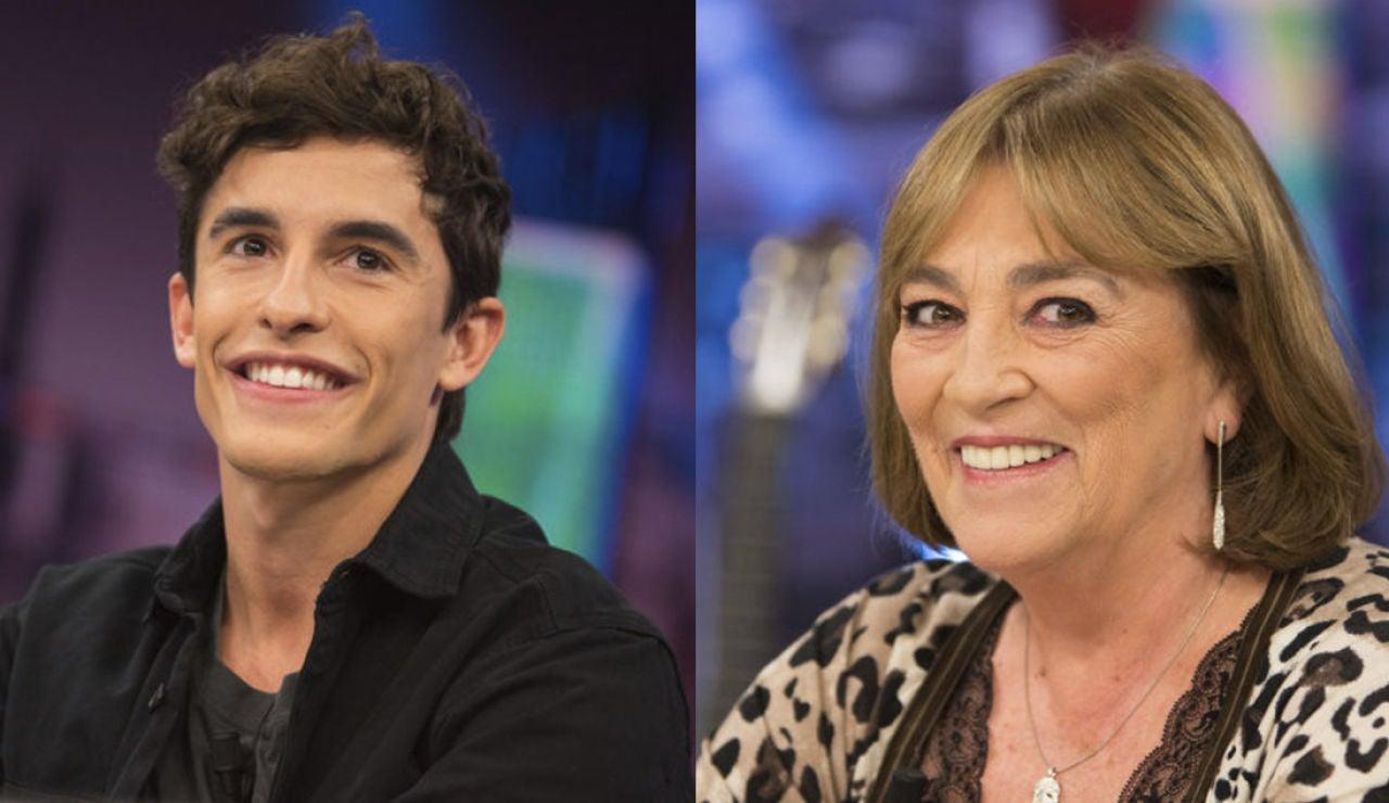 El martes visitan 'El Hormiguero 3.0: quédate en casa' el campeón del mundo de motociclismo Marc Márquez y la actriz Carmen Maura