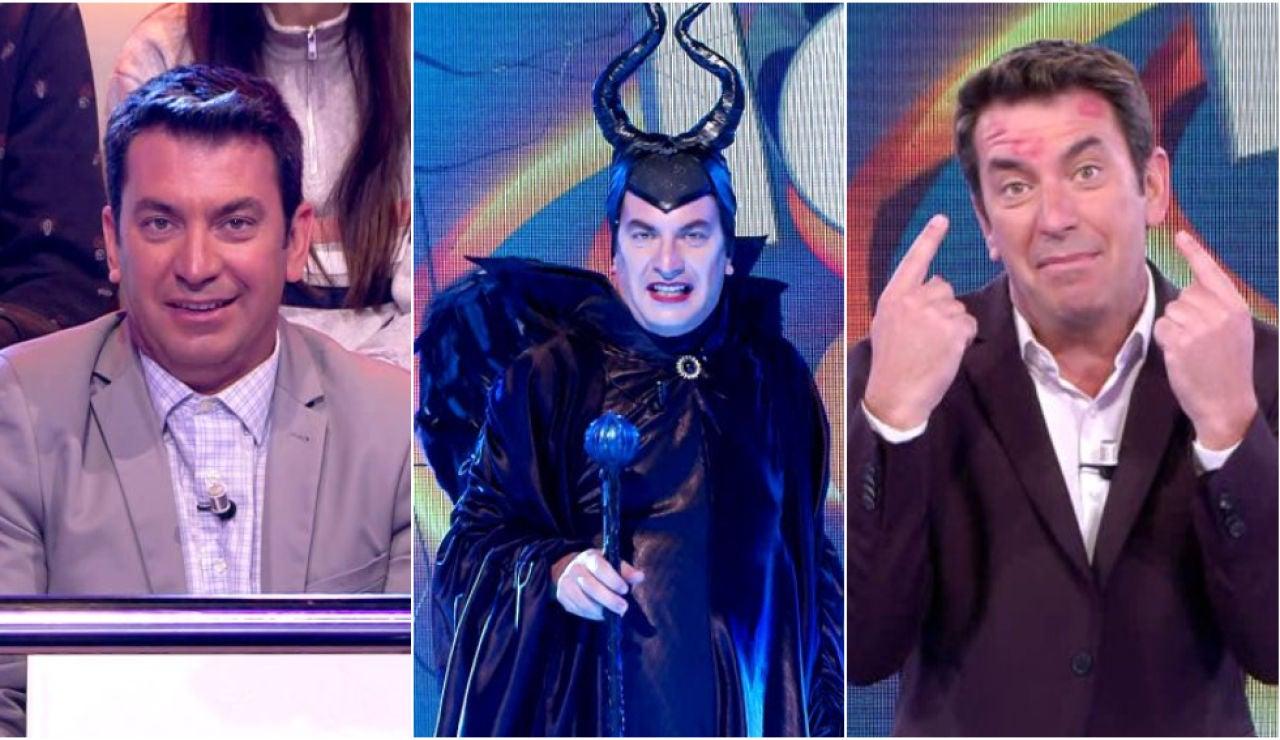 Forrest Gump, Maléfico, hombre tejedor, cornudo...: El Top-10 de bienvenidas de Arturo Valls a '¡Ahora caigo!'