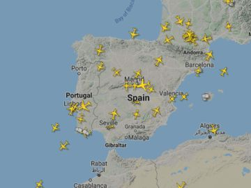 Interactivo de los vuelos a tiempo real en España y en el mundo