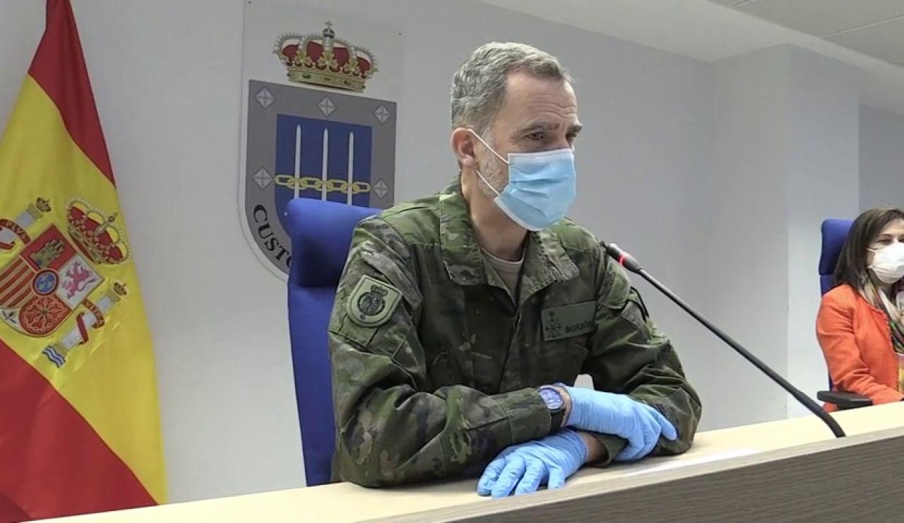 El rey agradece a los militares su despliegue en la lucha contra el coronavirus