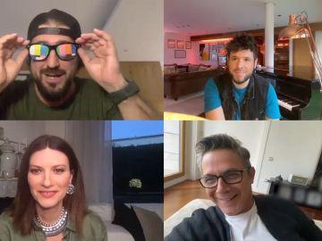 La entrañable y sincera videollamada de los coaches de 'La Voz' 2020: Muchas risas y también preocupaciones