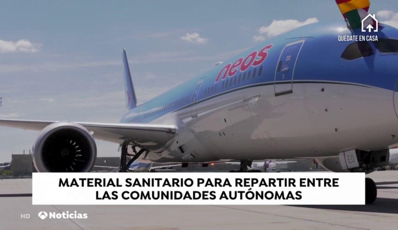 Llegan de China dos nuevos aviones con más de 3,5 millones de unidades de material sanitario contra el coronavirus