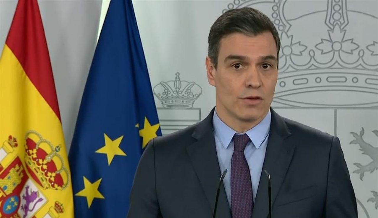 Comparecencia de Pedro Sánchez para anunciar la prórroga del estado de alarma hasta el 26 de abril