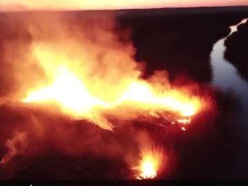 Incendio cerca de Chernobyl