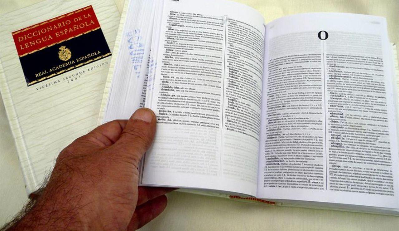 Tomos del Diccionario de la Real Academia de la Lengua Española (RAE).