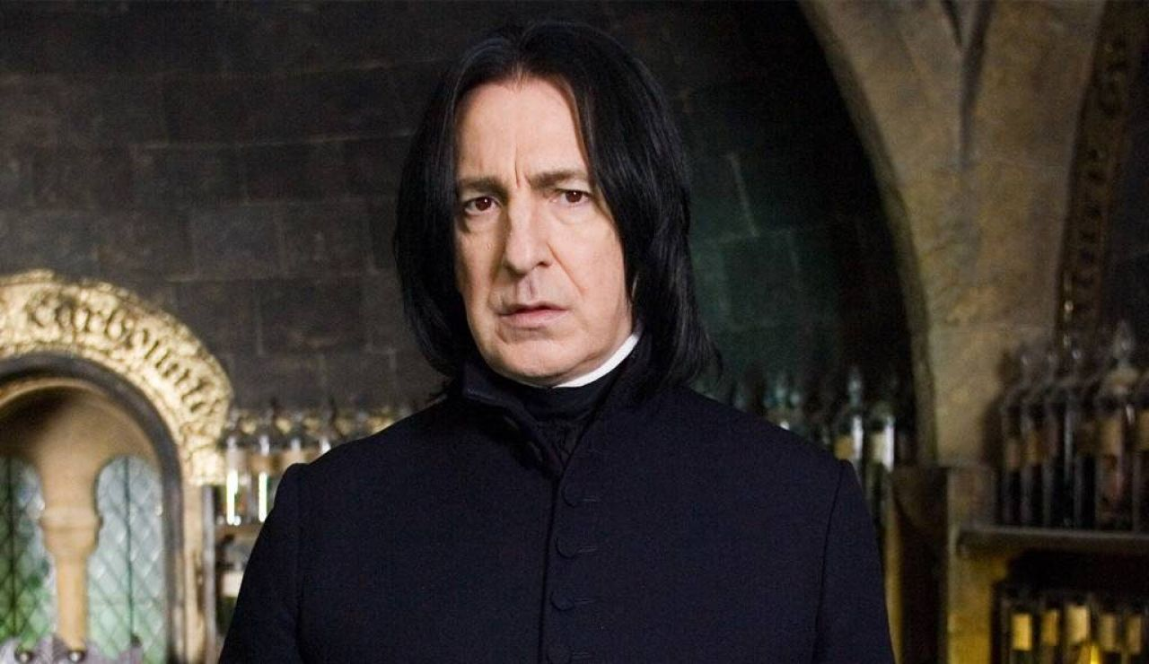 Alan Rickman como Severus Snape en 'Harry Potter'