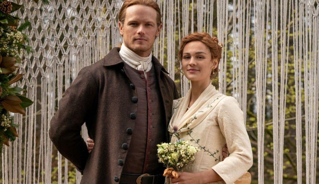 Jamie Fraser (Sam Heughan) y Brianna (Sophie Skelton) en 'Outlander'