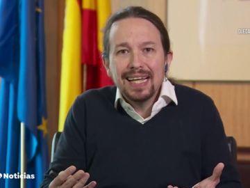 """Pablo Iglesias, tras hablar con el presidente de la CEOE sobre la renta mínima: """"Reconoce que el Estado no puede dejar desasistido a nadie"""""""