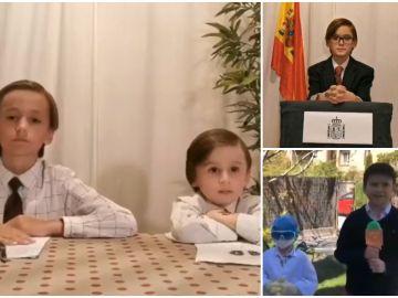 El divertido retos entre familias recreando los informativos de Antena 3 durante el confinamiento por coronavirus
