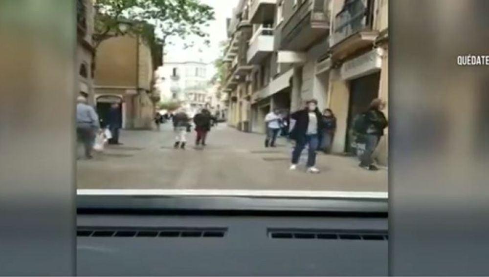 Se saltan el confinamiento en Sarriá, Barcelona