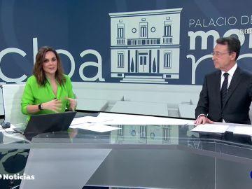 Mónica Carrillo y Matías Prats en Antena 3 Noticias