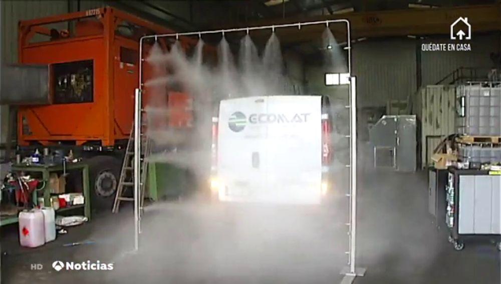 Una empresa española desarrolla arcos para desinfectar personas y vehículos de coronavirus