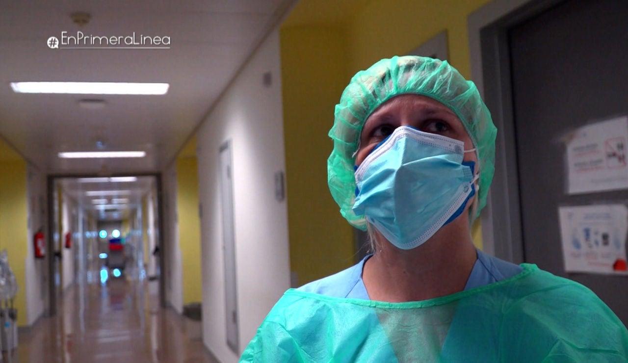 """Las lágrimas de una enfermera: """"En estas situaciones sientes el orgullo de ser sanitario"""""""