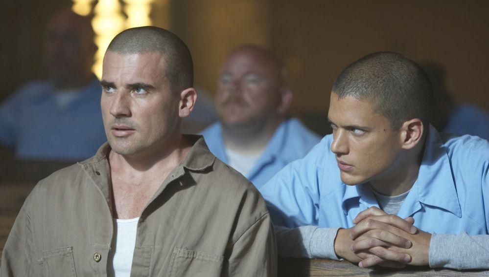 Wentworth Miller y Dominic Purcell en 'Prison Break'