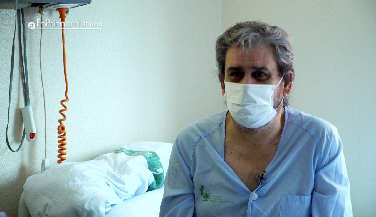 """La gran emoción de un paciente ingresado por coronavirus al pensar en su recuperación: """"Voy a vivir de otra manera"""""""