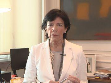 Ministra de Cultura, Isabel Celaá.