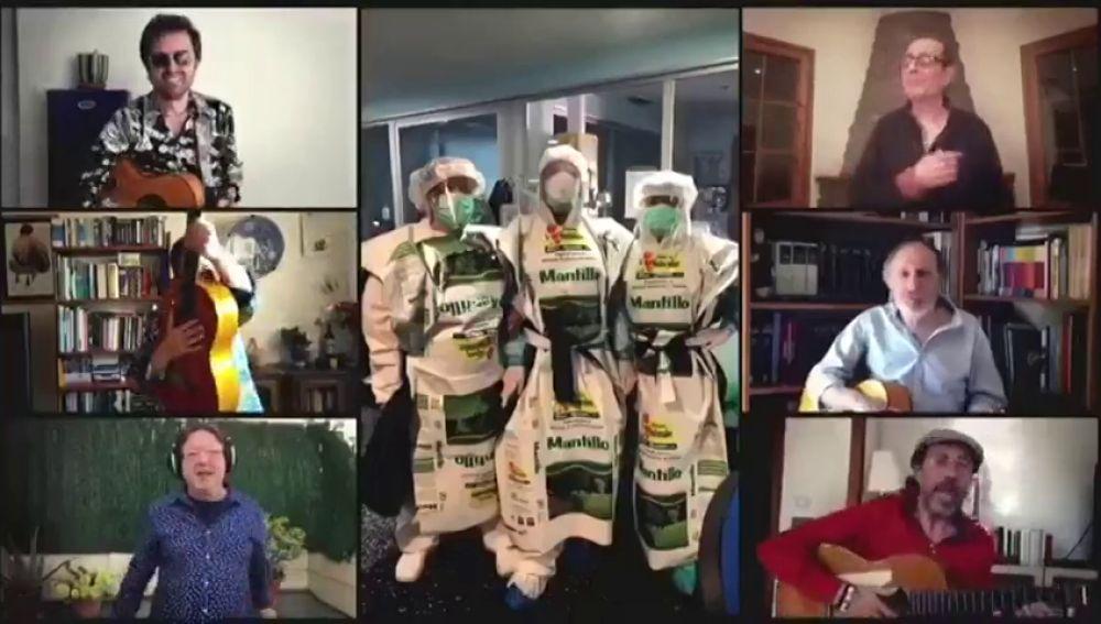 Los Manolos versionan la canción 'Amigos para siempre' y homenajean a los sanitarios y su lucha contra el coronavirus