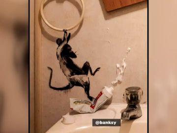 Banksy presenta su nueva obra desde casa durante el confinamiento por coronavirus