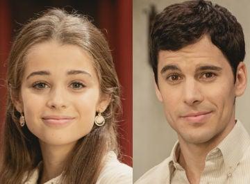 Berta Castañé y Adrián Expósito, Carolina y Pablo en 'El secreto de Puente Viejo'