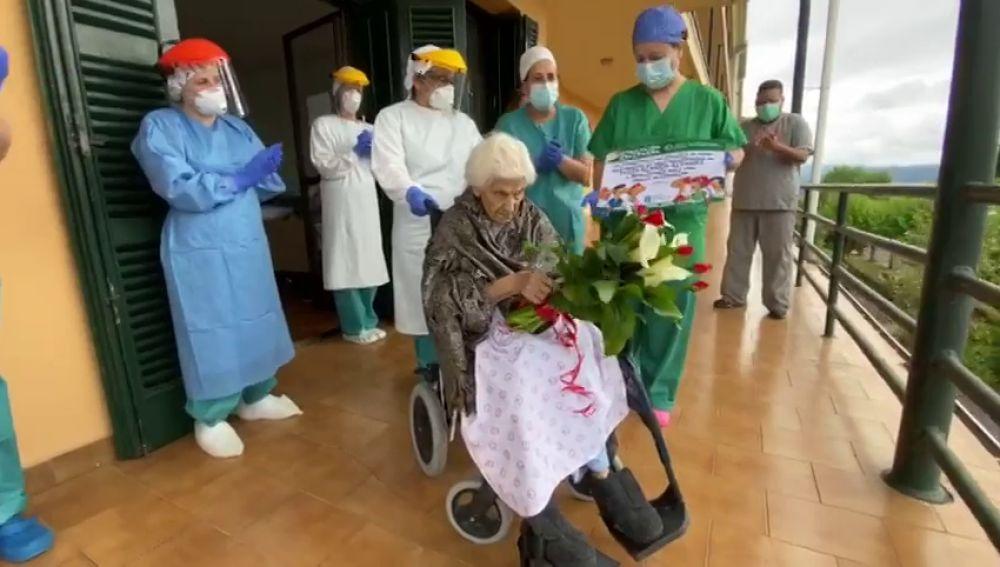 Lucía, a sus 106 años, le ha ganado la batalla al coronavirus