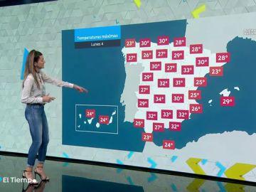 El tiempo estable en casi toda España tendrá hasta a 17 provincias con temperaturas superiores a los 30ºC