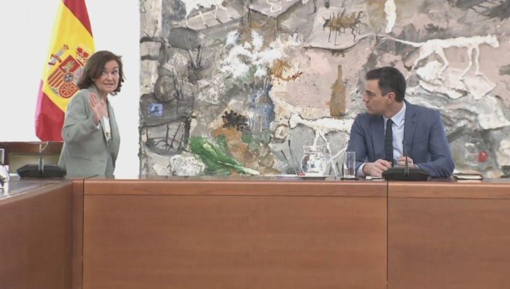 Carmen Calvo vuelve a la Comisión Técnica de la Gestión del coronavirus