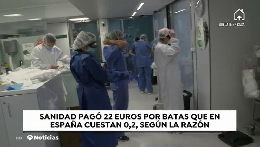 Sanidad compró en china batas a 22 euros cuando en España cuestan 20 céntimos