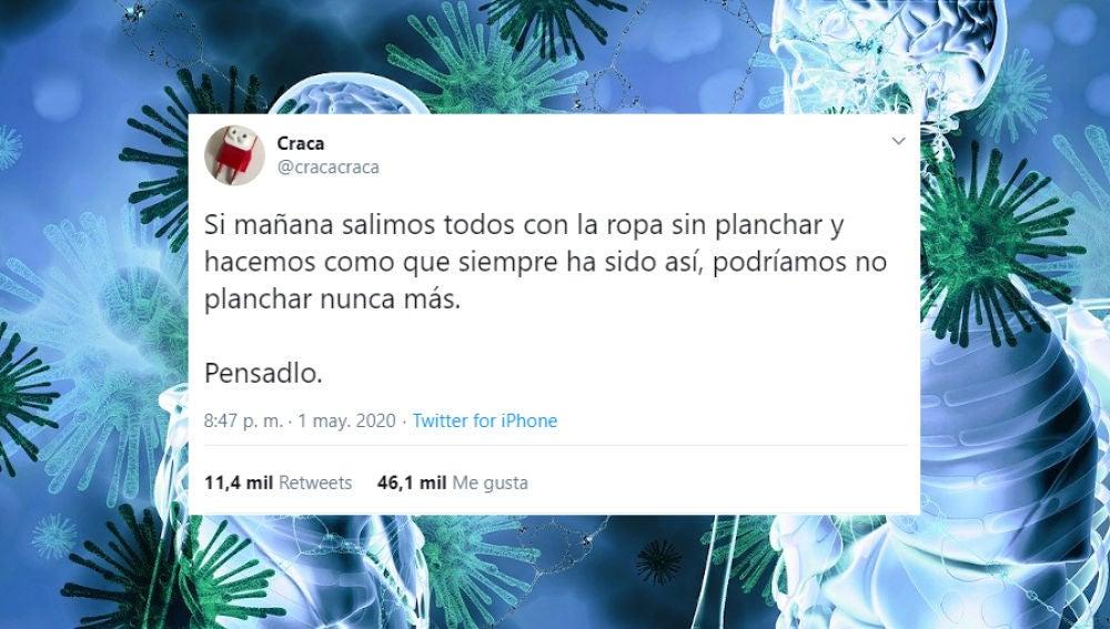 Tuit de @cracacraca