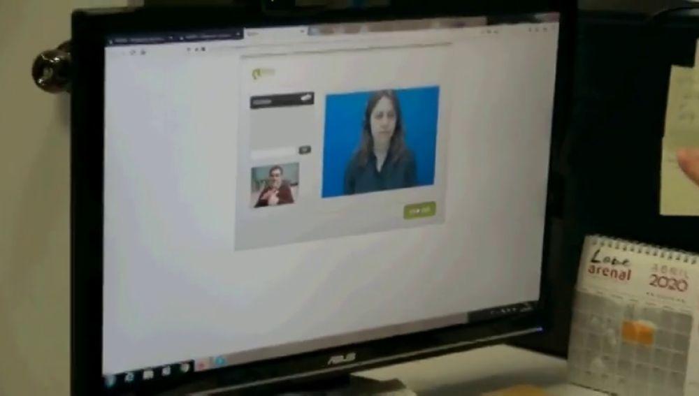 Videointerpretacion de llamadas para evitar el aislamiento de las personas sordas durante la crisis del coronavirus