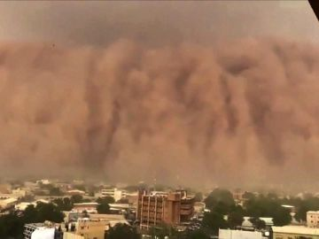 Imagen de la tormenta de arena