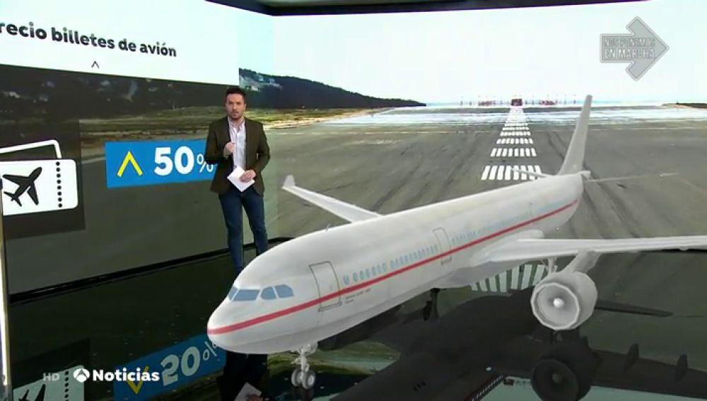El distanciamiento social en los aviones por el coronavirus podría encarecer los billetes en un 50%
